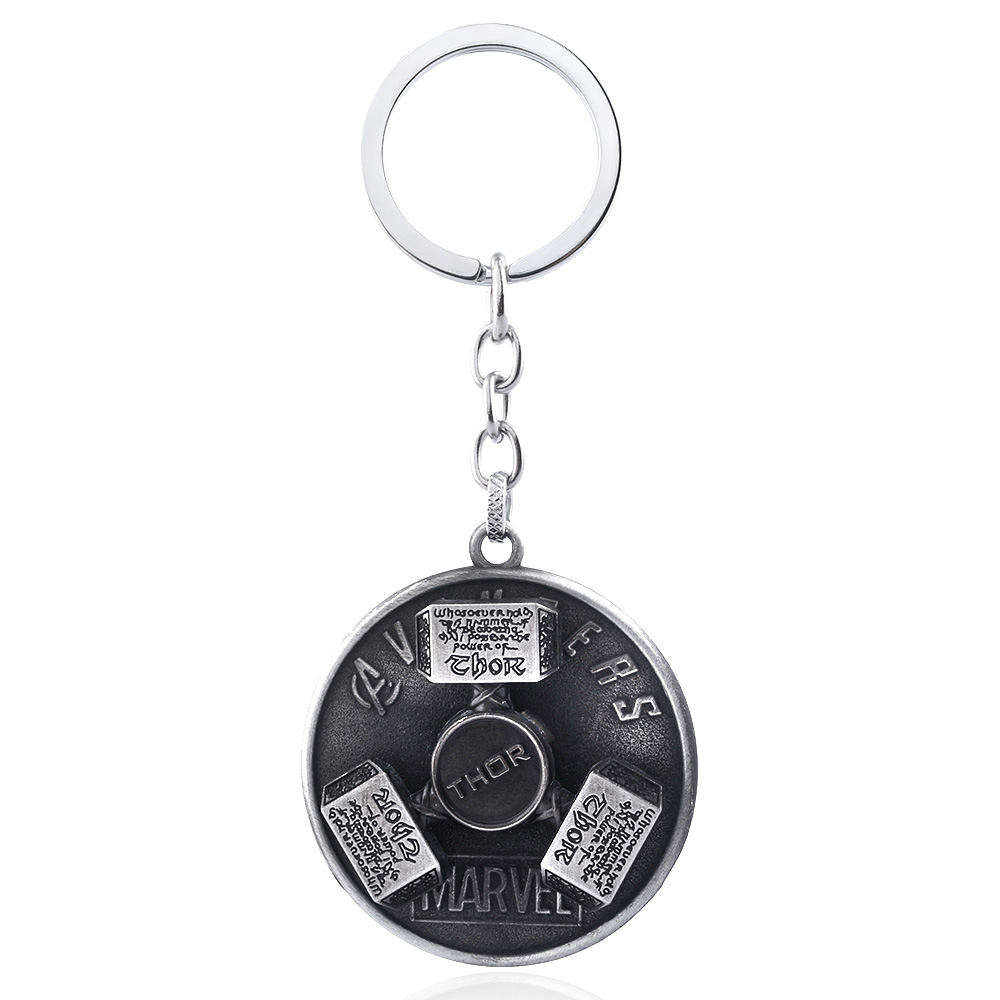 US $0 71 20% OFF|SG Dropshipping Iron Man Arc Reactor Keychains Avengers 4  Thanos Keyring Thor Hammer Key Chains Men Women Car Bag Accessories-in Key