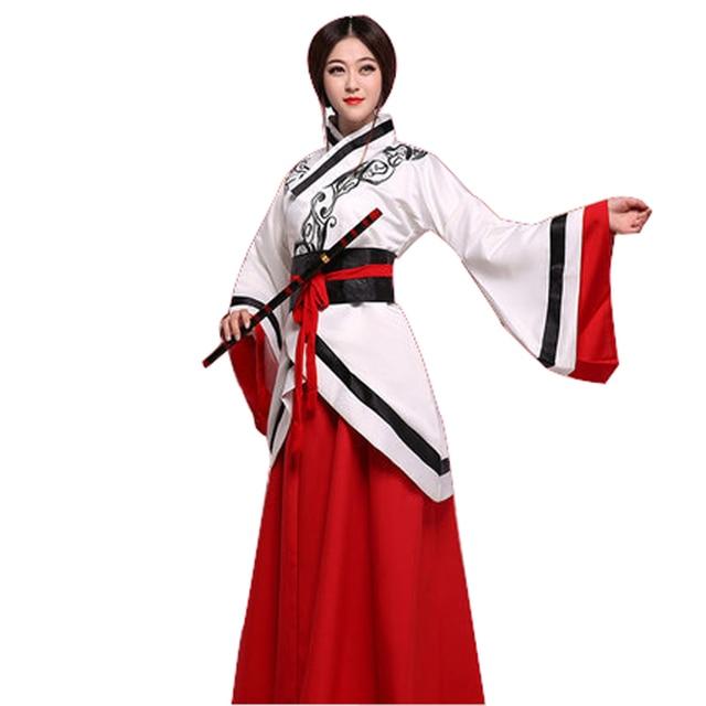 Chino tradicional traje ropa desgaste de la etapa hanfu chino dress desgaste del funcionamiento femenino hanfu ropa 5 colores ng1208