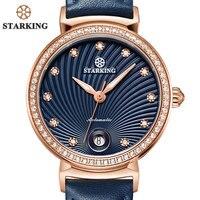 STARKING najnowsza moda zegarek dla kobiet dla kobiety 2017 Auto data luksusowy zegarek mechaniczny kobiety Retro zegarek na rękę typu vintage klasyczny zegarek w Zegarki damskie od Zegarki na