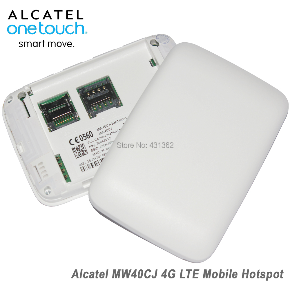 US $37 81 5% OFF|Unlocked Alcatel Link Zone MW40CJ 4G LTE 150Mbps Mobile  WiFi Wireless Router-in 3G/4G Routers from Computer & Office on