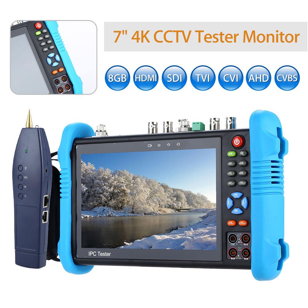 SEESII 7 4 K 8 GB CVI TVI AHD HD SDI/EX-SDI Caméra Multimètre PTZ POE Test CCTV IP Testeur Moniteur WIFI HDMl Vidéo Onvif H.265
