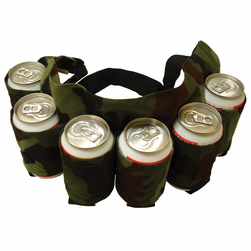 Image 4 - Outdoor Climbing Camping Hiking 6 Pack Holster Portable Bottle Waist Beer Belt Bag Handy Wine Bottles Beverage Can Holder-in Storage Bags from Home & Garden