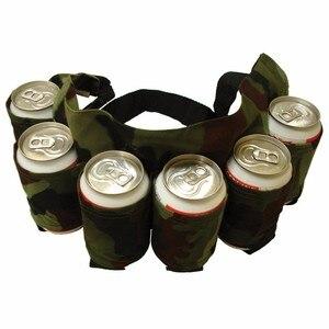 Image 4 - Outdoor Climbing Camping Hiking 6 Pack Holster Portable Bottle Waist Beer Belt Bag Handy Wine Bottles Beverage Can Holder