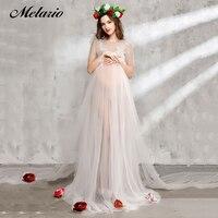 Melario Maternity dress 2017 Maternity Photography Props Maternity Flower Dress Sleeveless Voile Summer Pregnant Dress