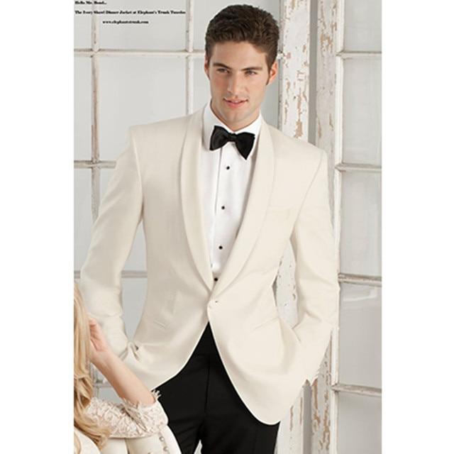 Aliexpress.com : Buy mens cream suits for wedding groom tuxedo for ...