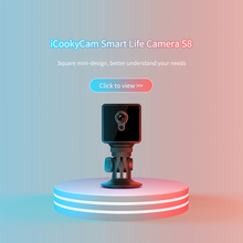 S8 Mini Câmera IP Wi Fi de Segurança Em Casa Câmera de Vigilância de Rede Sem Fio Wifi Night Vision Baby Monitor Câmera 8 horas de trabalho