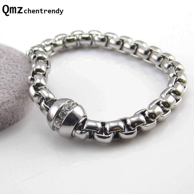 Top Qualité Hommes Fine Bijoux Bling CZ Fermoir De Luxe Marque Magique  Puissance Bracelet Circulaire Aimant