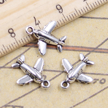 20pcs Charms Lover Plane Airplane 15x14mm Tibetan Silver Color Pendants Antique Jewelry Making DIY Handmade Craft 12pcs lot charms retro camera 15x14mm tibetan pendants antique jewelry making diy handmade craft for bracelet necklace