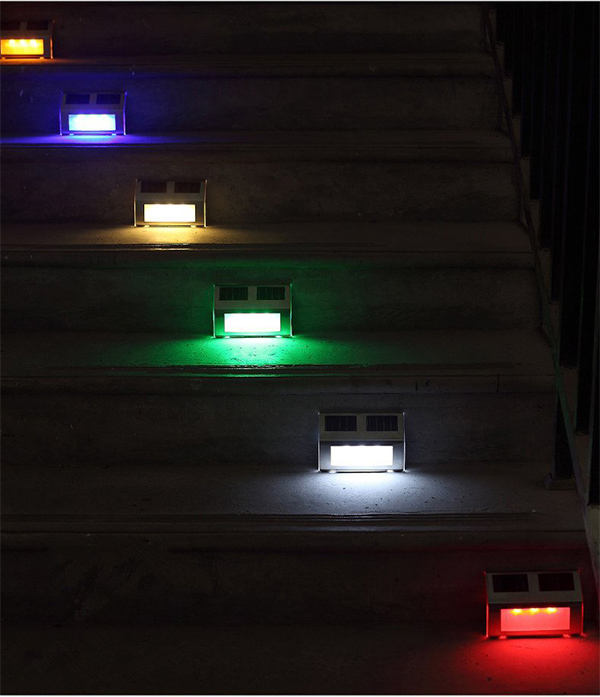 luces solares de escaleras impermeable 3 led l mpara para