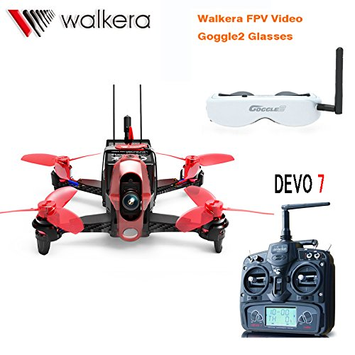Walkera Rodeo RTF 5.8G FPV 110 110mm DEVO 7 TX RC Racing Drone Quadcopter With Head Tracker Goggle2/Charger/600TVL Camera F19845 2015 high quality black mdf mounted outside black pu leather 3 grid watch display box storage box free shipping ag442