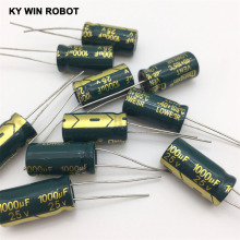 free shipping 10pcs Aluminum electrolytic capacitor 1000uf 25v 10*20 Electrolytic Hot sale
