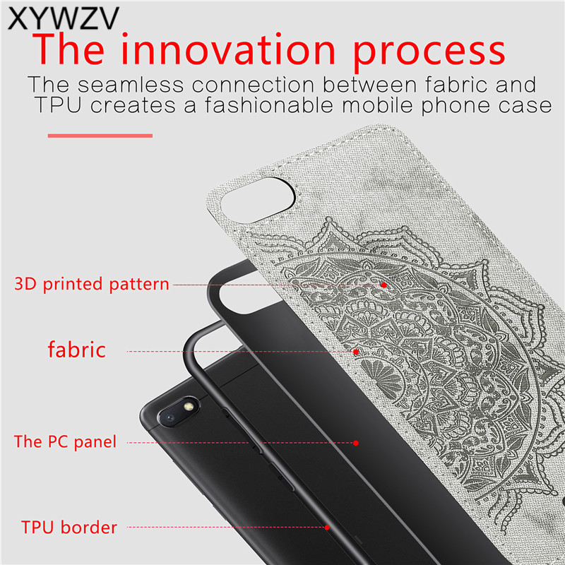 Image 3 - Xiaomi Redmi 6A Shockproof Soft TPU Silicone Cloth Texture Hard PC Phone Case Xiaomi Redmi 6A Back Cover Xiaomi Redmi 6A Fundas-in Fitted Cases from Cellphones & Telecommunications