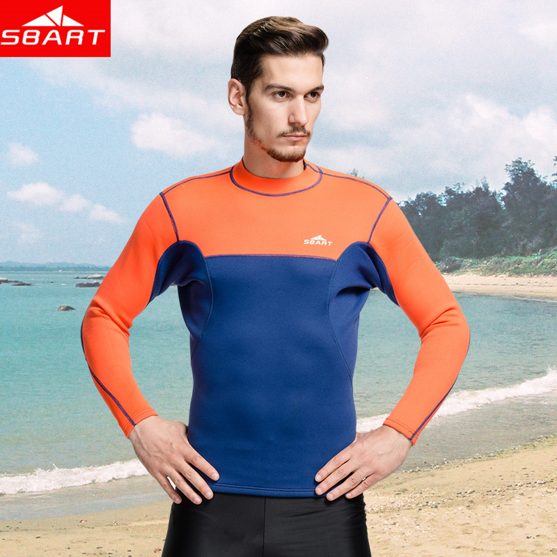 sbart пишет прибытие 2 мм неопрена гидрокостюм топы мужская плавание рубашка с длинным рукавом серфинга neopreno rashguard плюс размер 3xl l741