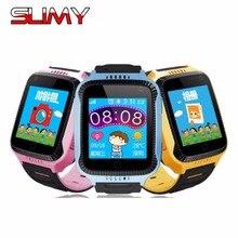 Q528 Q529 viscosas Crianças GPS Relógio Do Telefone Inteligente 1.44 polegadas Touch tela de Chamada SOS Dispositivo de Localização Rastreador para Criança Segura Com lanterna