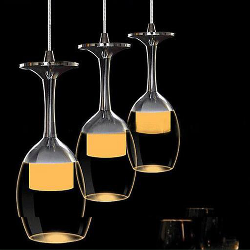 1/3/6heads lamps LED dining room three single head dining table crystal lamp modern simple bar dining room Pendant Light FG780