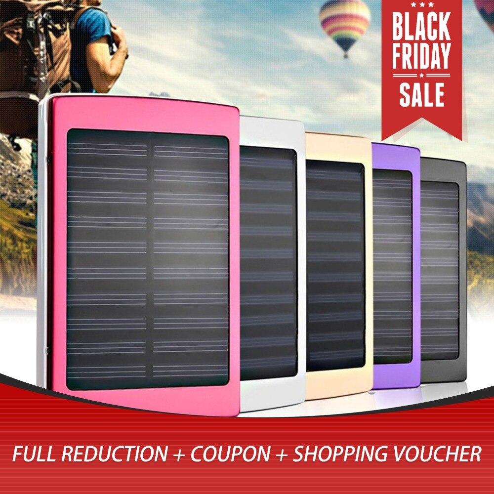 Tamanho portátil 50000 mah Grande Capacidade de Carregador de Bateria Externa para Smartphones Banco de Potência Do Painel Solar Ao Ar Livre Promoções New hot