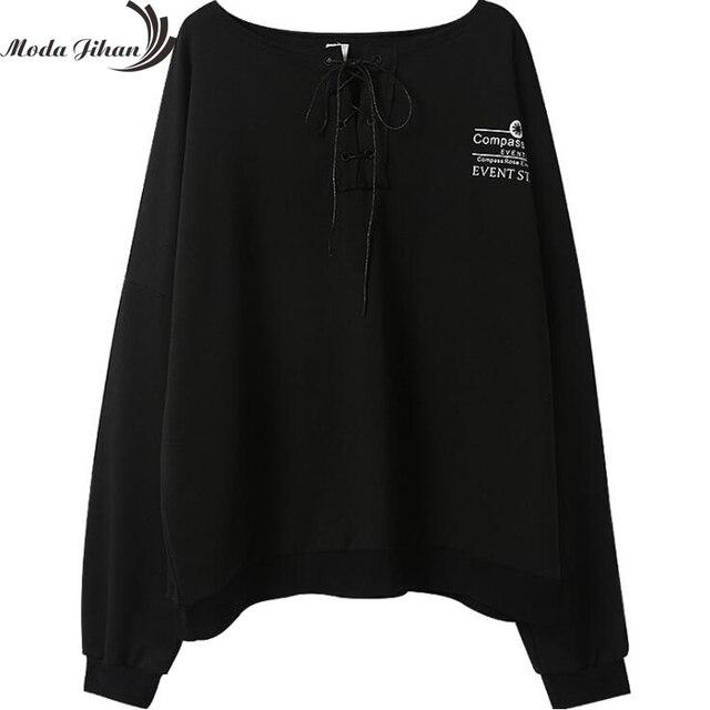 Moda Jihan Women ulzzang Japanese Harajuku Hoodies Street Fashion Woman Long Sleeve Hoodies Oversize Pullover Sweatshirt Print 5