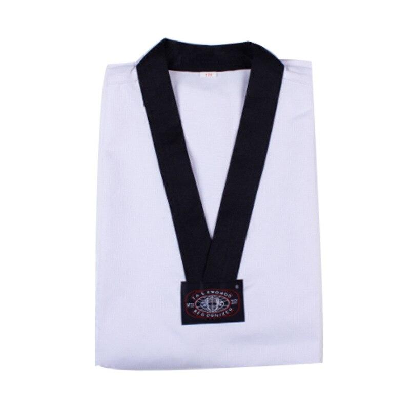Лидер продаж тхэквондо с длинными рукавами добок таэквондо форма каратэ Ткань Профессиональные тхэквондо кроссовки белый Костюмы для дете...