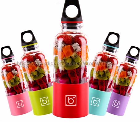Upgrade Bingo 500ML Portable Rechargeable USB Electric Juicer Automatic Mixing Stirring Cup Fruit Juice Cup & Tracking Number 2016 new design 500ml portable fruit juicer