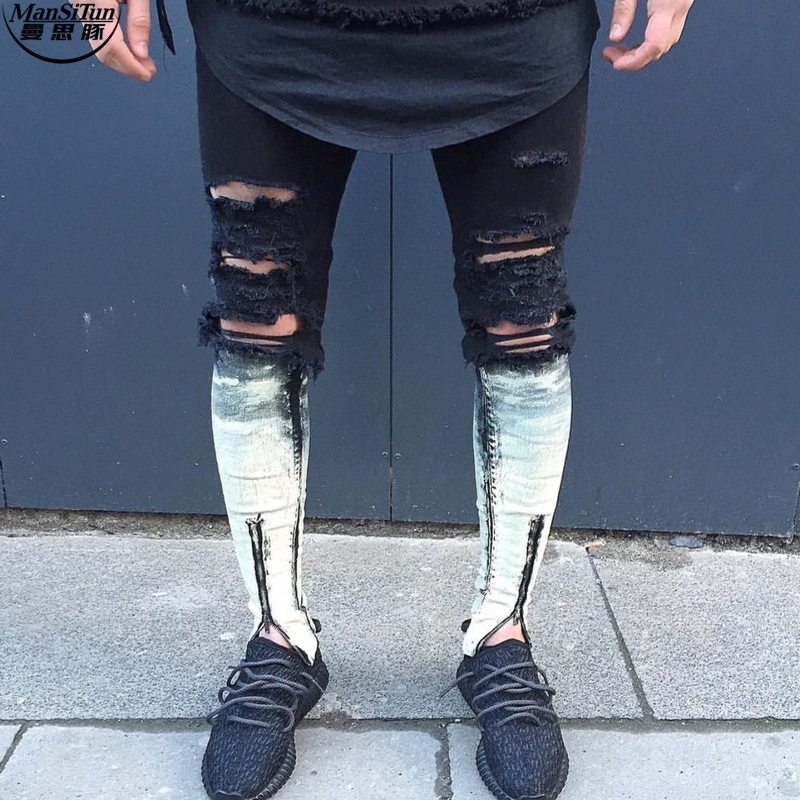 Online Buy Wholesale mens destroyed denim from China mens ...