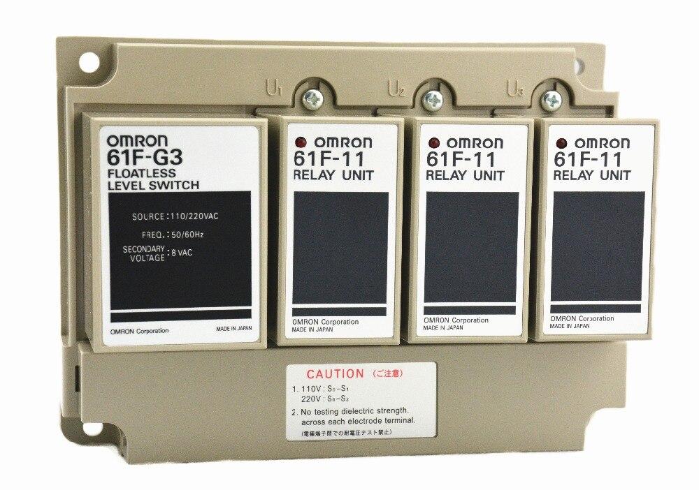 61F-G3 AC 110/220 V 50/60Hz OMRON relais composant électronique relais à semi-conducteurs contrôleur de niveau d'eau pour commutateur de niveau de liquide
