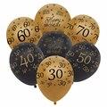 12 дюймов золотые латексные шары черные 30 40 50 60 70 лет декорации с днем рождения гелиевый воздух мяч свадебные принадлежности для вечеринки ша...