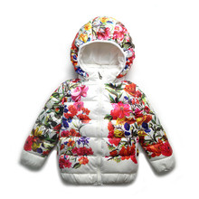 Fashion Girl Winter down Jackets Coats warm baby girl thick duck Girls Down Kids jacket Children Outerwears for Cold Winter