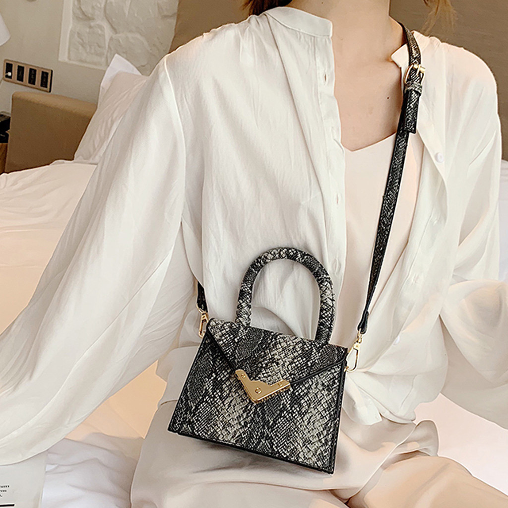 Handbag Bags Crossbody-Bags Messenger-Shoulder-Bag Sac Main Retro Serpentine Femme Women