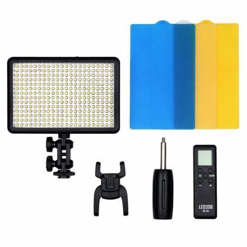 Nouveau Godox 308C Bi-Couleur Dimmable 5500 K/3300 k LED Vidéo LED Vidéo Studio Light Lampe Professionnel vidéo Lumière avec télécommande