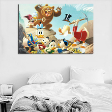 Scrooge Mcduck Huey Dewey And Louie HD Wallpaper Canvas Posters Prints Wall Art Painting Decorative Picture Bedroom Home Decor