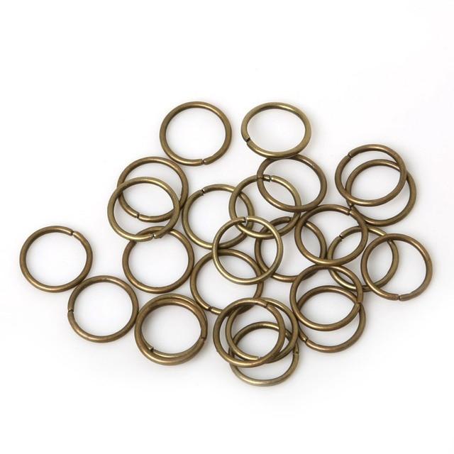 200 sztuk/partia 8mm 10mm mosiądz/gun-metal/złoty/srebrny/rod otwarcie gumka do włosów Braid Dreadlock koralik mankiet klip Braid narzędzie Hoop koło