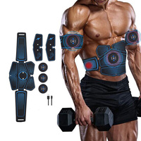 Abs Stimulator Muscle Trainer Equipment with 16 Gel Pads, EMS Abdominal Toning Belt for Men and Women, Arm and Leg Trainer