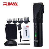 Riwa 110 240V Rechargeable Hair Clipper Professional Hair Trimmer For Men Electric Cutter Hair Cutting Machine