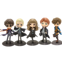 15cm QPosket Harry Potter Ron Weasley Hermione Granger Draco Malfoy Action Figure Collectible Model Toy