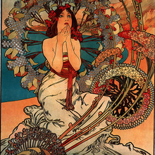 Alphonse Mucha pintura de Monaco Monte Carlo 1897 pinturas clásicas en lienzo pósteres de pared vintage pegatinas decoración del hogar regalo