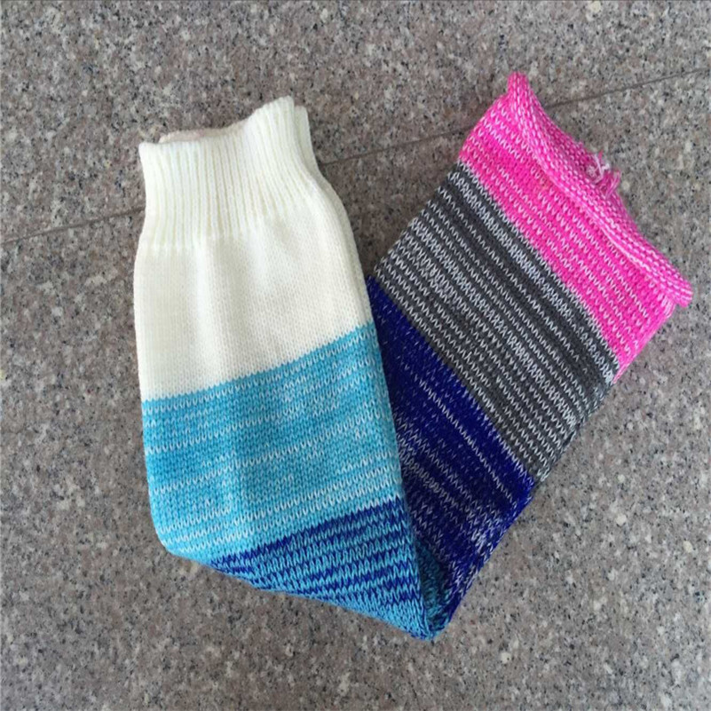 Colores suave calentador de la pierna de las mujeres ganchillo ...