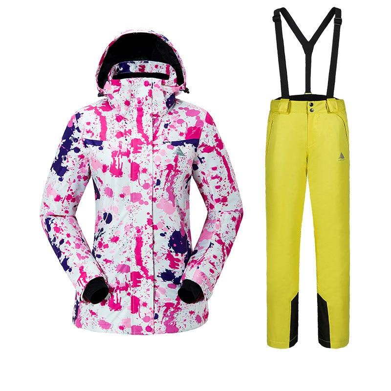 Skisport & Snowboarding Women Ski Suits Suspender Outdoor Sports Warm Windproof Waterproof Breathable Ski- & Snowboard-Handschuhe