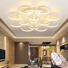 Современный потолочные для гостиной спальня кухня свет лампы круг кольца дизайн plafonnier из светодиодов модерн из светодиодов подсветка для дома
