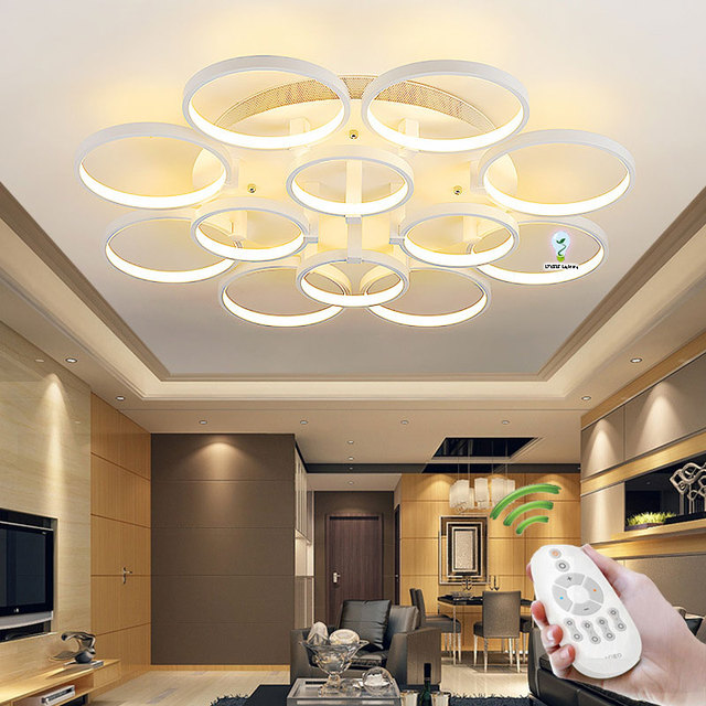 Modern ceiling lights for living room bedroom kitchen light lamp circle rings design plafonnier led moderne