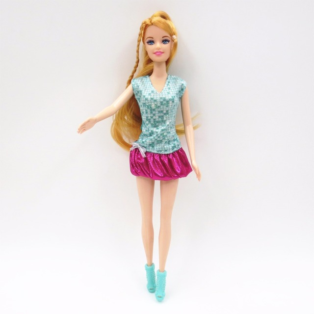 10 Sets Fashion Cloth Barbie Dolls For Girls For 30 cm Height Barbie Dolls Accessories Toy Clothes Birthday gift For Baby girls