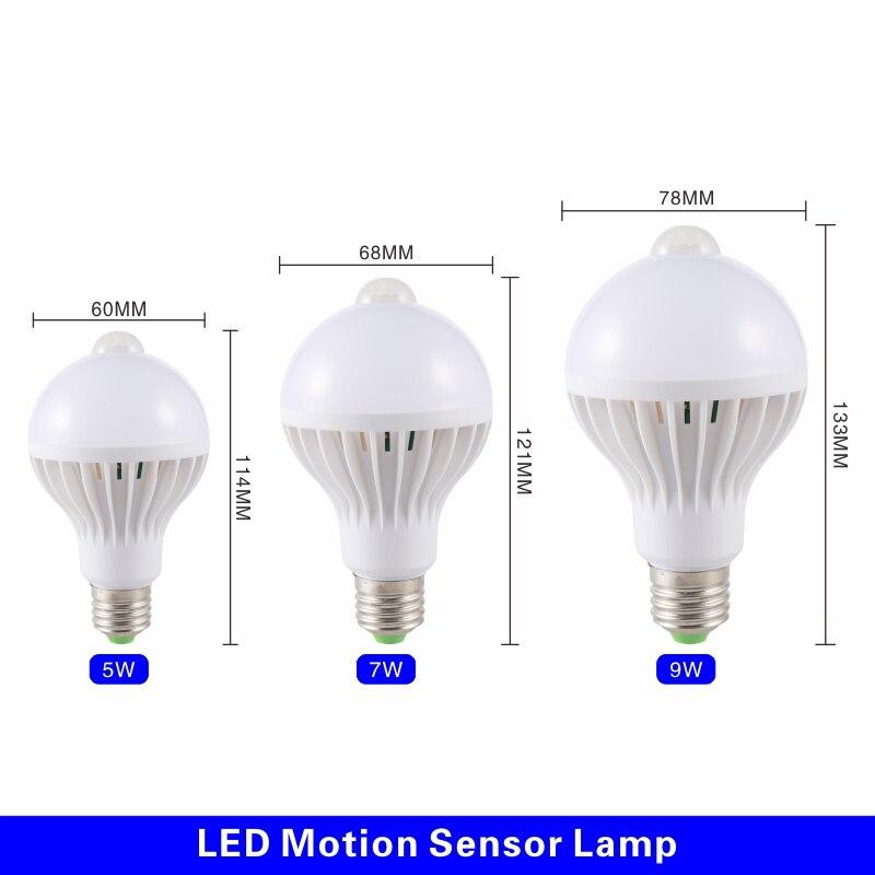 3W//5W//7W//9W LED Sound PIR Motion Sensor Ball Light Globe Bulb Corridor Lamp