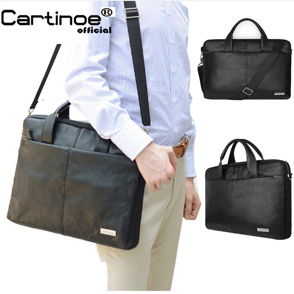 Cartinoe PU Leather Business Laptop Bag 15.6 inch Laptop Sleeve case for Macbook Air 15 Pro 15 Retina Bag Men Handbag Briefcase jacodel business large crossbody 15 6 inch laptop briefcase for men handbag for notebook 15 laptop bag shoulder bag for student