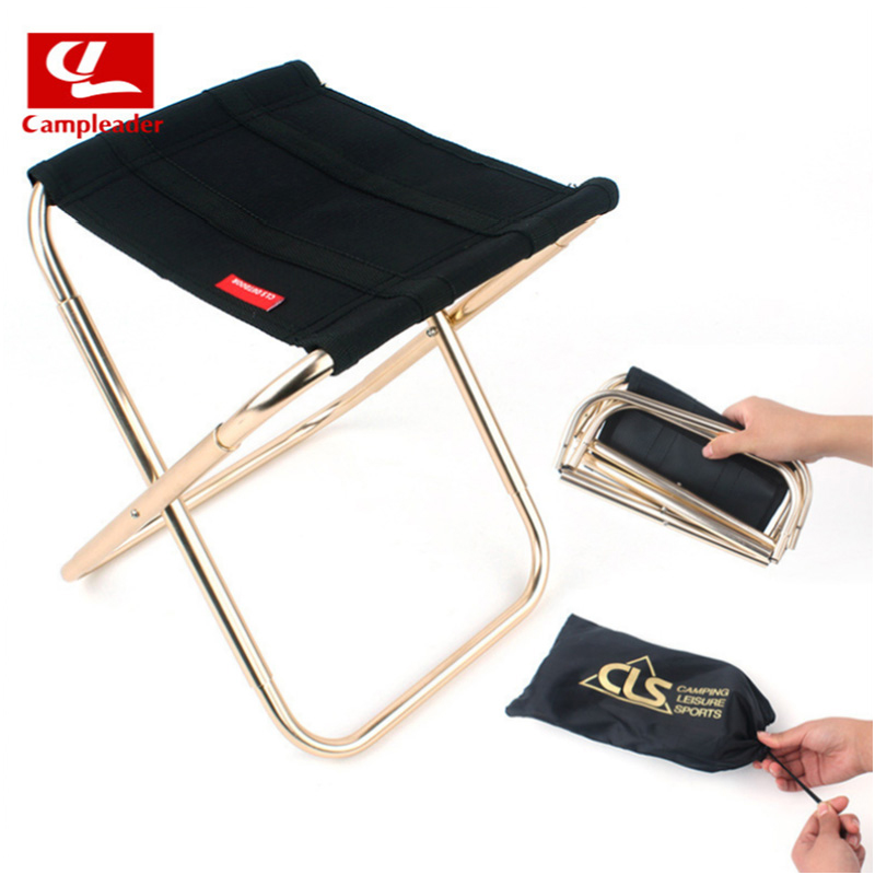 Outdoor Lightweight Portable Folding Fishing Chair Camping Oxford Cloth Foldable Picnic Fishing Chair with Storage Bag