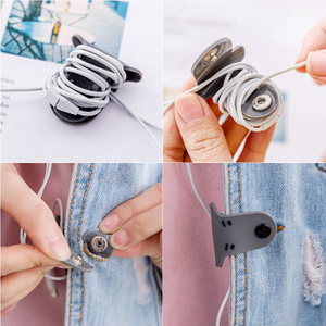 Image 5 - 20pcs Soft Silicone Magnetic Cable Winder Organizer Cord Earphone Storage Holder Clips Cable Winder For Earphone For Data Cable