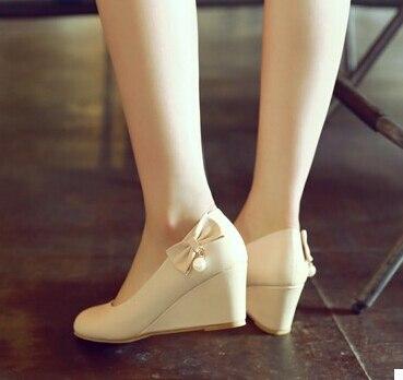 Tamaño Yardas Señoras Las Coreana Pendiente Pequeño 4 Ronda La Un De Gran 03 02 34 Dulce 01 Con Primavera Zapatos Versión Solo T7POqdwP