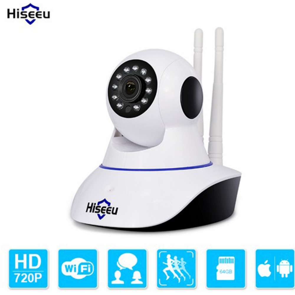 Hiseeu 720P HD Wireless IP Camera Wi-fi Night Vision Wifi Camera P2P IP Network Camera Home Security CCTV Camera Baby Monitor wireless ip camera hd 180 degree panoramic home security camera 720p baby monitor night vision wi fi camera remote control