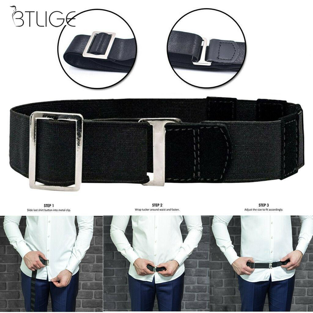 Fashion 120cm Black Shirt Holder Adjustable Near Shirt Stay Best Tuck It Belt For Women Men Work Interview Hot Sale