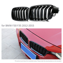 1 Pair F30 Car Racing Grill Grille M3 Style F35 Kidney Black Replacement Grille For BMW 3 Series F30 F35 2012-2015 Gloss Black