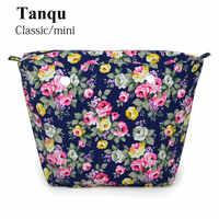 TANQU nuevo colorido forro interior impermeable bolsillo con cremallera para Mini Obag clásico bolsillo interior de lona para O Bag