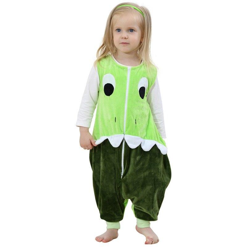 Baby Boys Girls Sleepwear Robes Autumn Children Sleeveless Rompers Flannel Animal Jumpsuits Pajamas One Piece Blanket Sleepers